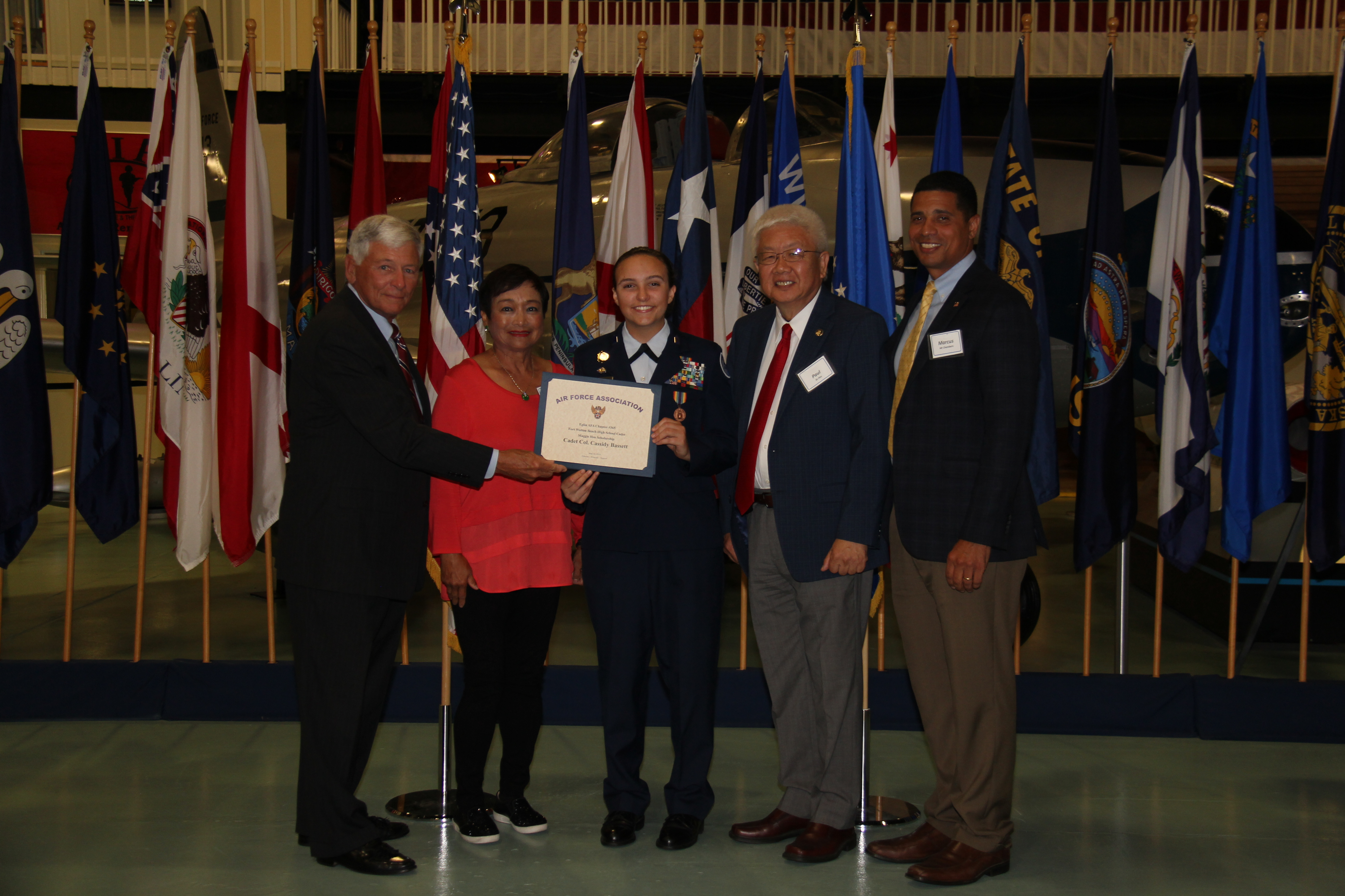 Maggie Hsu Scholarship - Cadet Colonel Cassidy Bassett, Fort Walton Beach High School