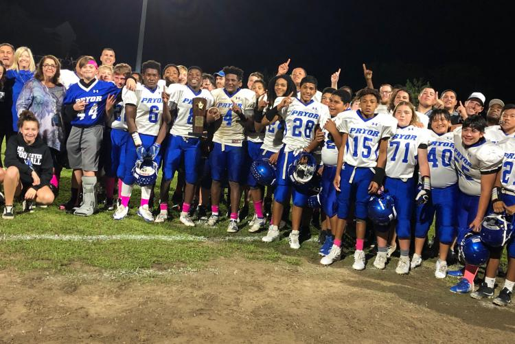 Pryor MS Wins Middle School Athletic Conference Class 1A Football Championship