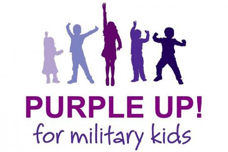 April is the Month of the Military Child - Wear Purple Wednesday, April 10th