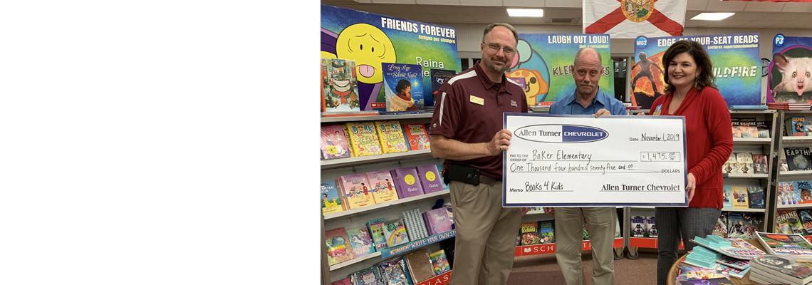 OCSD Title I Department Teams Up with Allen Turner Chevrolet and Scholastic Book Fair