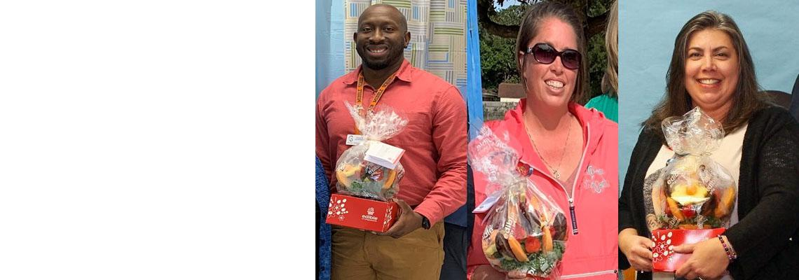 District Names Educational Support Professionals of the Year (ESPY) Finalists - Terrence Lowery, Bruner MS, Tonya Evanchyk, Elliott Point ES, and Sheri Cyrus, Walker ES